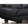 Sofá de piel oriental negro