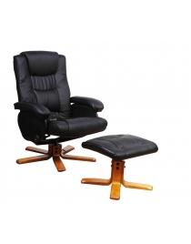 fauteuil massant avec pouf