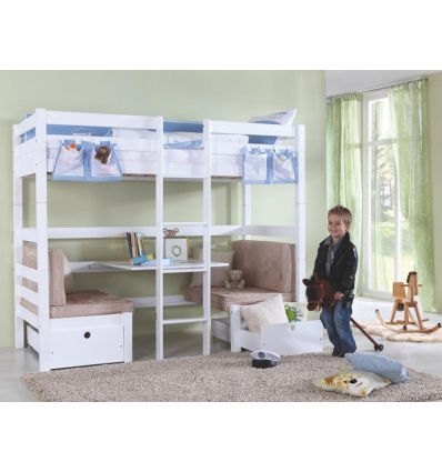 lits superposes enfants avec bureau. Black Bedroom Furniture Sets. Home Design Ideas