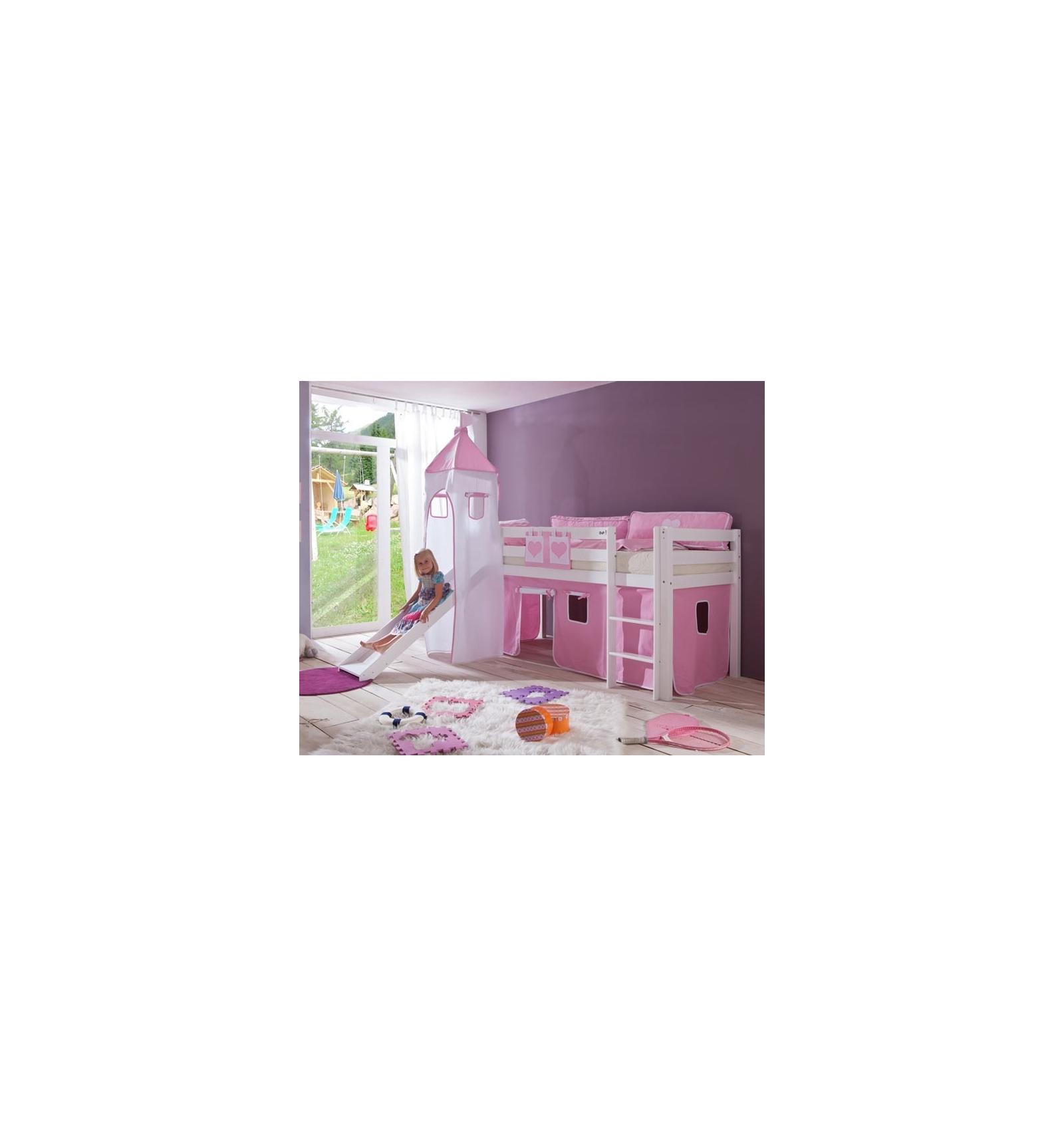 lit mi haut enfant interesting lit mi hauteur enfant x white flexa avec chelle droite toboggan. Black Bedroom Furniture Sets. Home Design Ideas