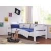 Roupa de cama infantil azul e branco
