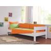 Roupa de cama infantil verde e laranja