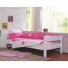 Roupa de cama infantil com coraçoes rosa e branco