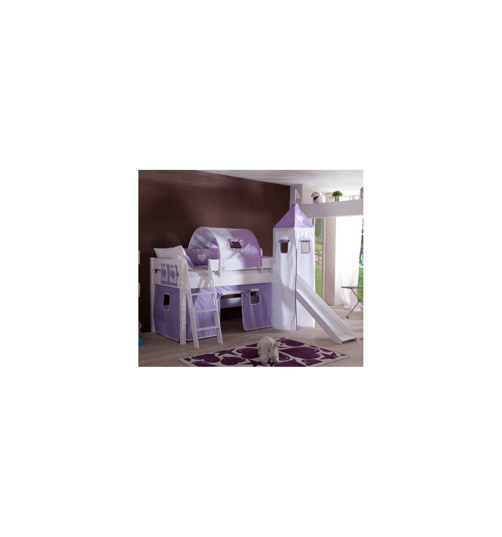 lit surelev avec toboggan. Black Bedroom Furniture Sets. Home Design Ideas