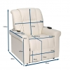 Dimensions fauteuil medical
