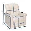 Dimensions fauteuil releveur électrique