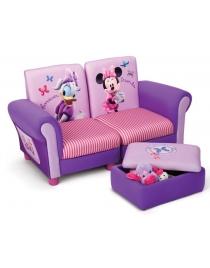Canapé Minnie Mouse avec pouf