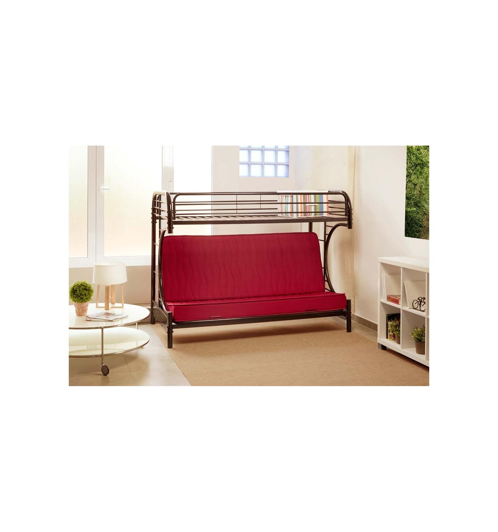 lit mezzanine canap. Black Bedroom Furniture Sets. Home Design Ideas