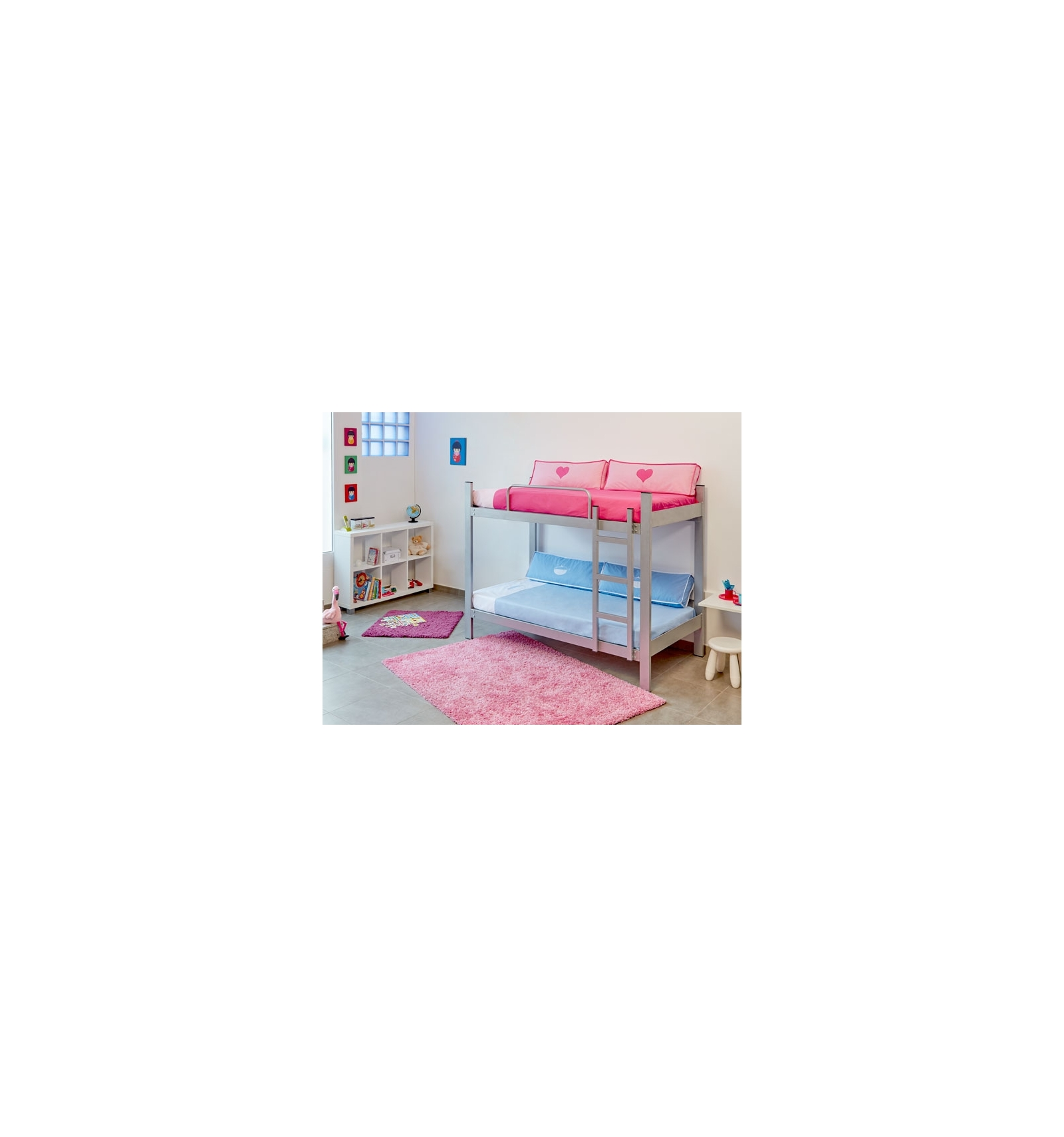 lit superpos m tallique. Black Bedroom Furniture Sets. Home Design Ideas