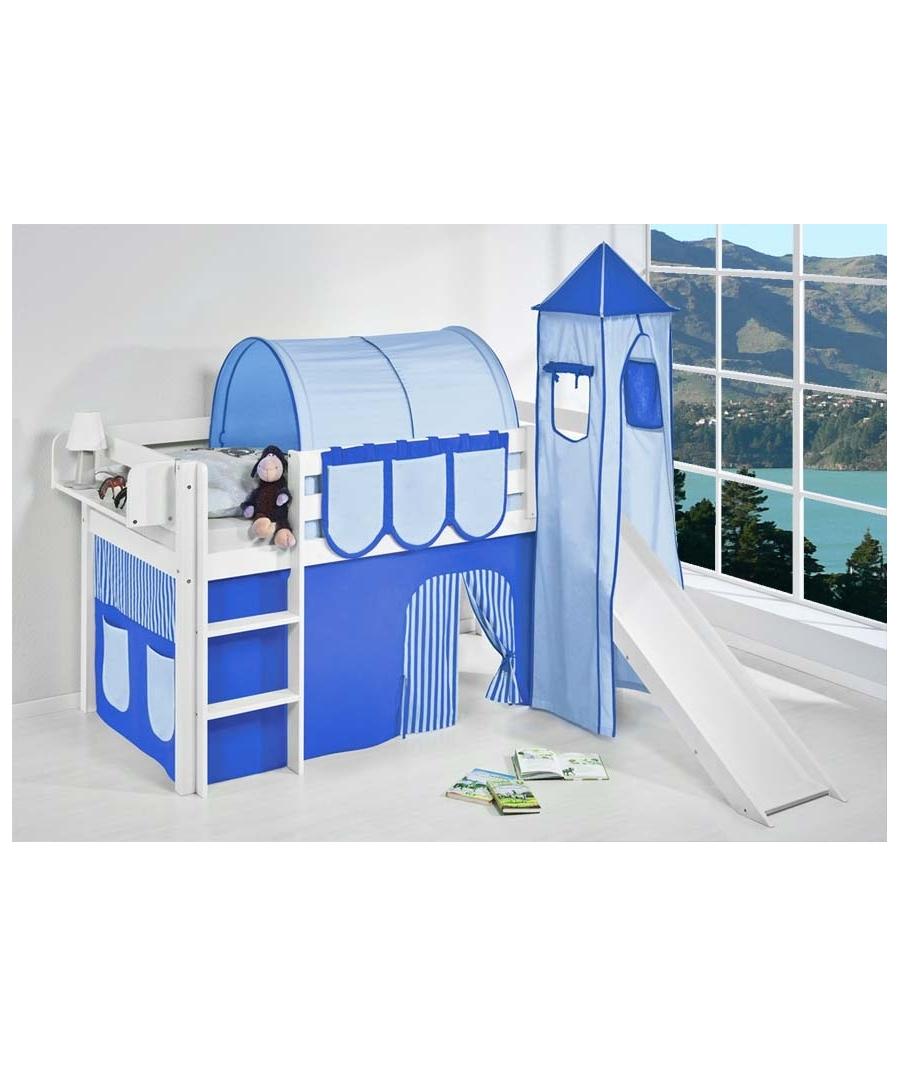 lit mi haut avec toboggan. Black Bedroom Furniture Sets. Home Design Ideas