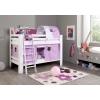 Beliches prateleiras lilás rosa
