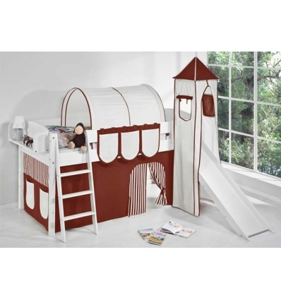 lit mit haut evolutif avec toboggan. Black Bedroom Furniture Sets. Home Design Ideas