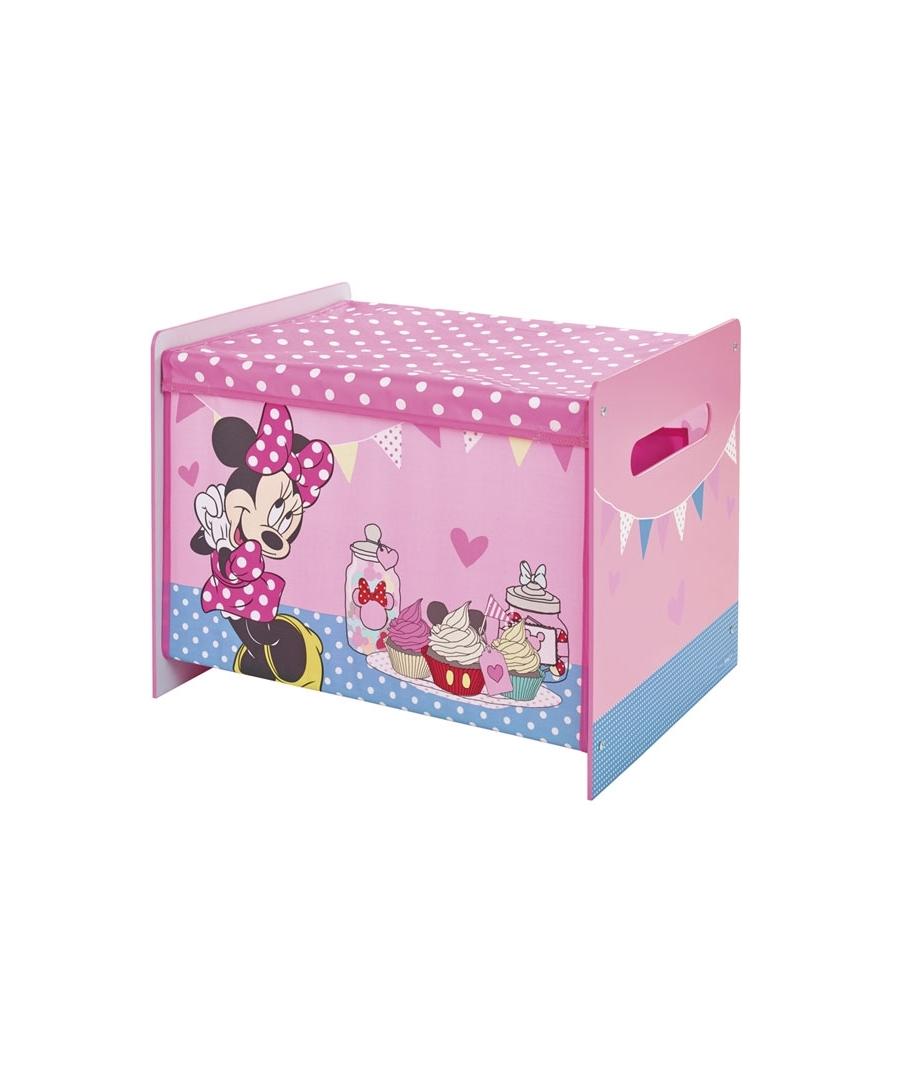 Coffre jouets minnie mouse - Meuble rangement minnie ...