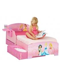 Lit enfant avec tiroirs Princesses Disney