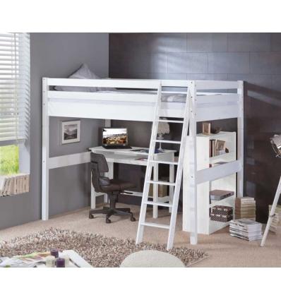 lit mezzanine double. Black Bedroom Furniture Sets. Home Design Ideas