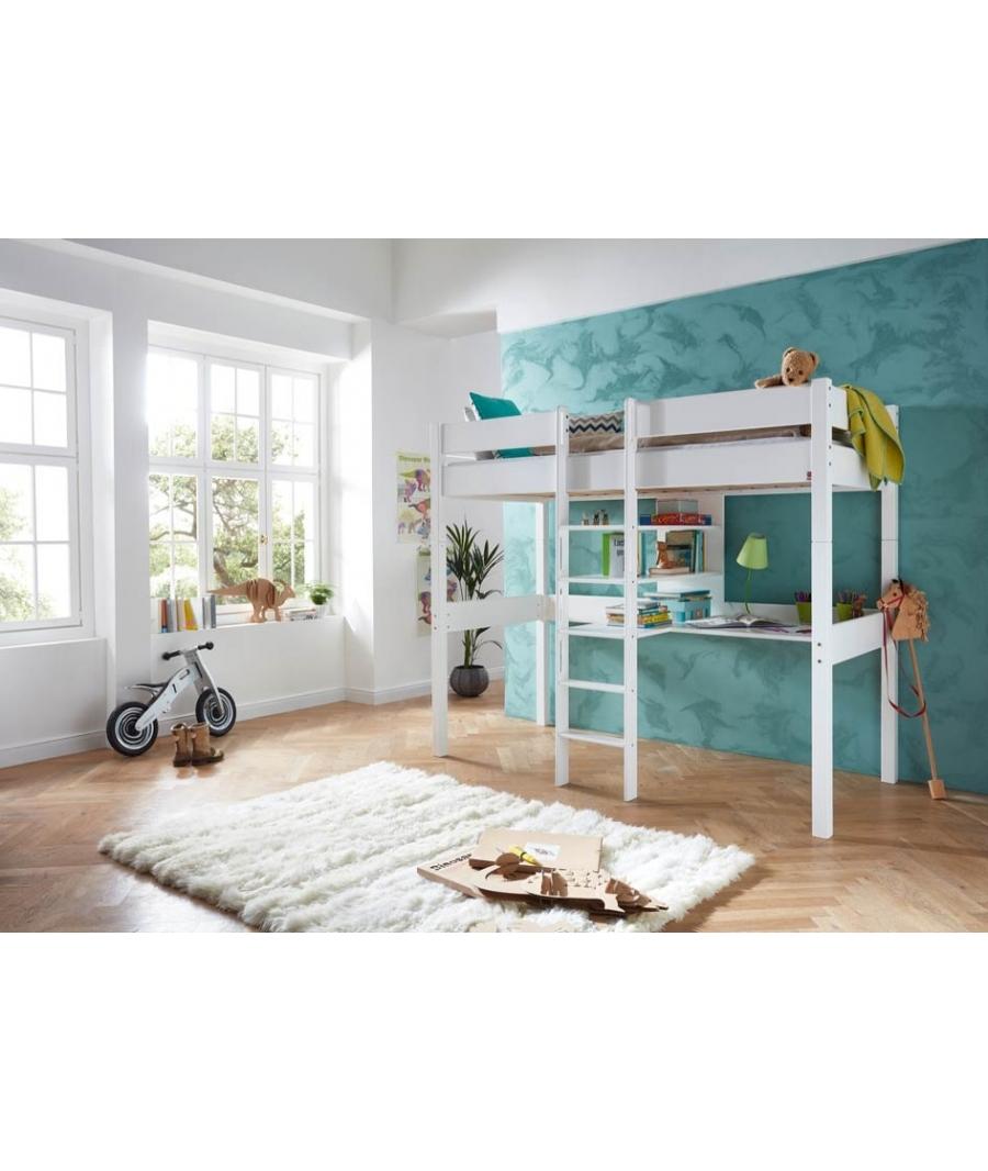 lit haut avec bureau boston - Lit Haut