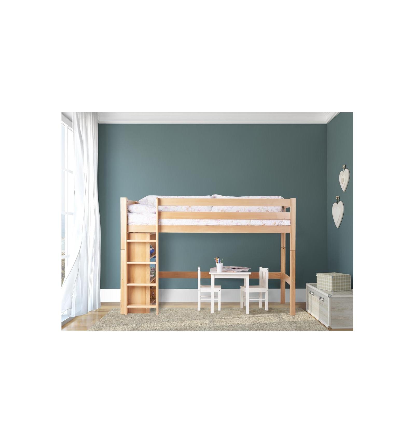 Lit Mezzanine Pas Haut lit haut avec étagères