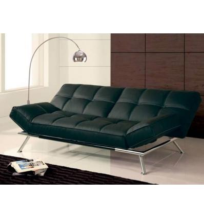 Canapé lit cuir