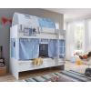 Etagenbett Wandelbar Vorhang Blau