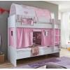 lit superposé rideaux rosa