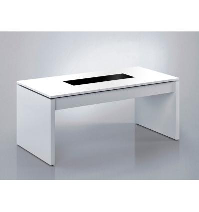 Table relevable avec plateau de verre for Meuble corporel