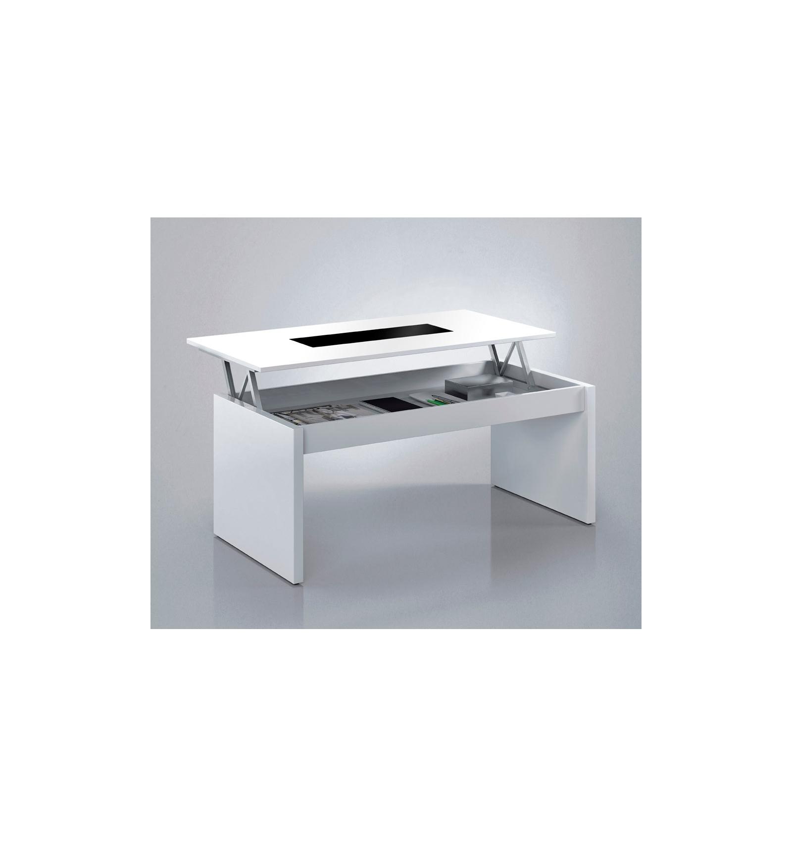 Table relevable avec plateau de verre for Table avec plateau en verre