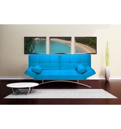 Canapé-lit turquoise