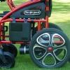 Rollstuhl mit Elektroantrieb