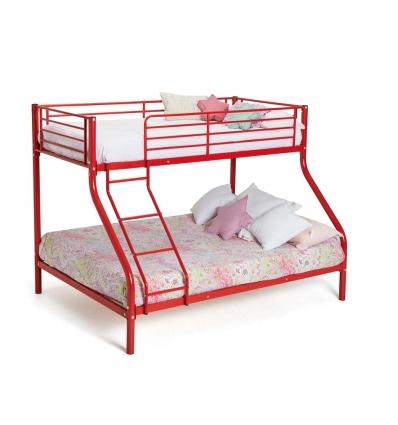 Roter Etagenbett für 3
