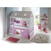 Cama Cabana com escorreguera lilás rosa