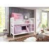 Lit superposé avec lit gigogne lilas rose