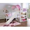 L formiges kinderstockbett tirren lila rosa