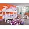 Etagenbett für kinder lila rosa
