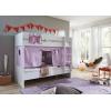Letto a castello convertibile viola rosa