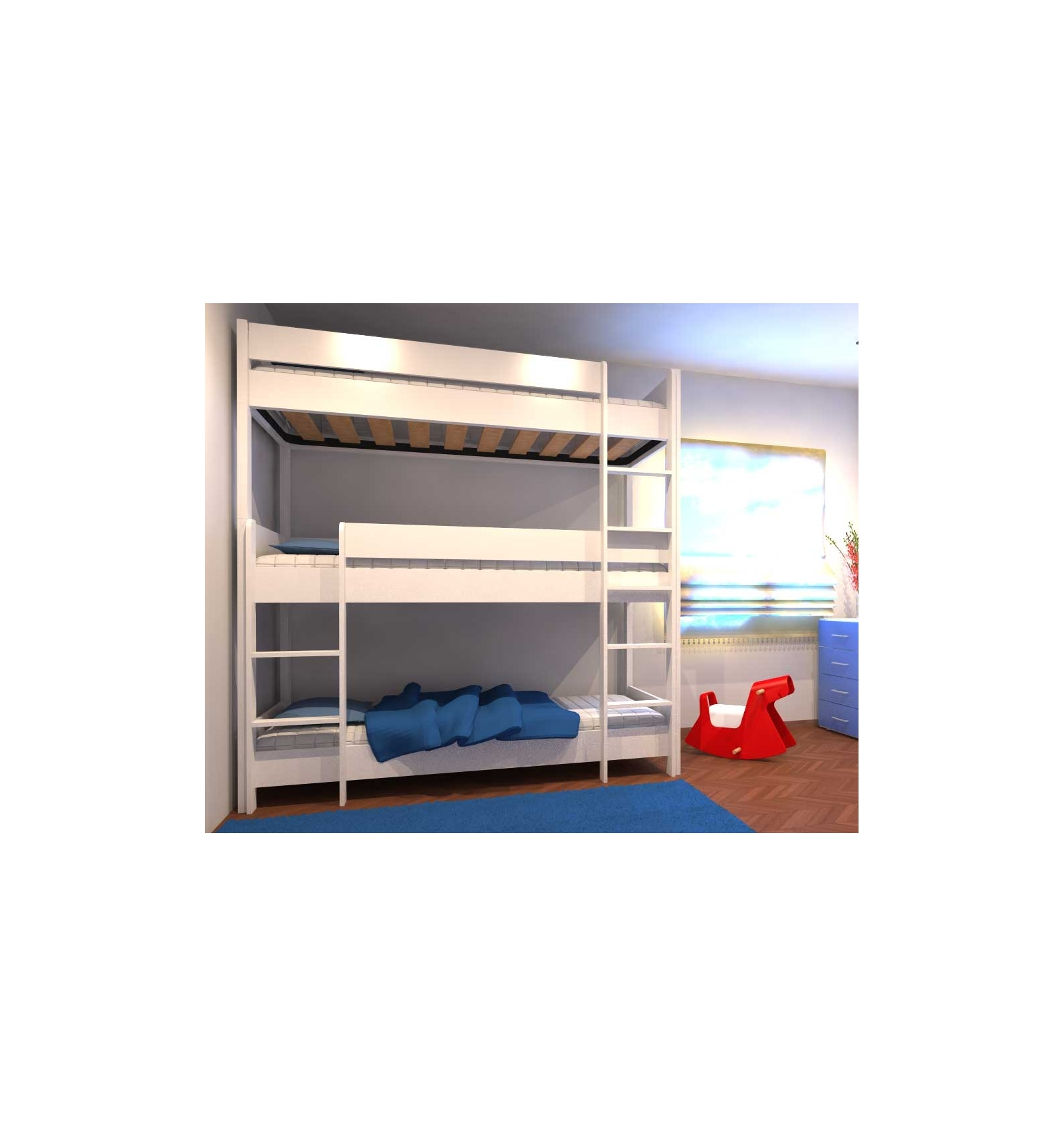 lit superpos triple. Black Bedroom Furniture Sets. Home Design Ideas