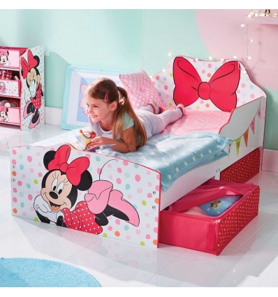 Kinderbett mit Schubladen Minnie Mouse