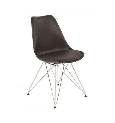 Cadeira com pés de metal