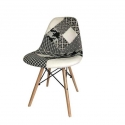 Chaise nordique patchwork