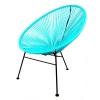 Cadeira estilo tropical azul