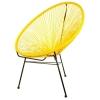 Cadeira terraço exterior tropical amarelho