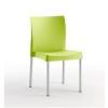 Cadeira de aluminio e resina