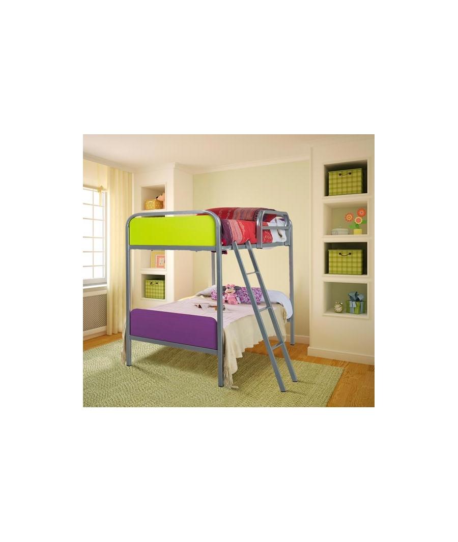 Lit en l avec toboggan meubles enfants pinterest - Lit superpose toboggan ...