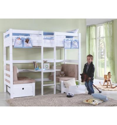 lit superpose avec bureau lit avec bureau pour fille et cuisine lits mezzanines lit mezzanine. Black Bedroom Furniture Sets. Home Design Ideas