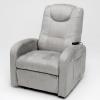 Sofa relax cinza com RC