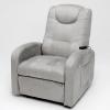 Fauteuil relaxation massant gris
