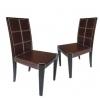 Chaises de salle à manger brun