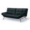 Canapé lit cuir noir