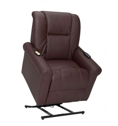 fauteuil releveur marron
